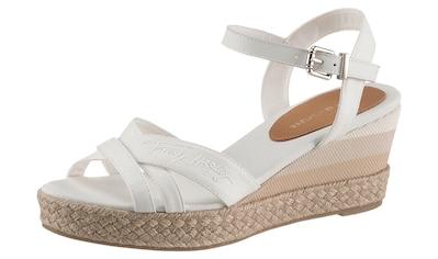 Tommy Hilfiger Sandalette »TOMMY GRADIENT MID WEDGE SANDAL«, mit verstellbarer Schnalle kaufen