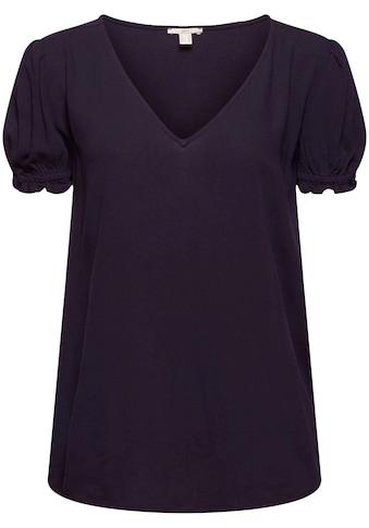 edc by Esprit Shirtbluse, mit verschiedenem Allover Print und Puffärmel kaufen