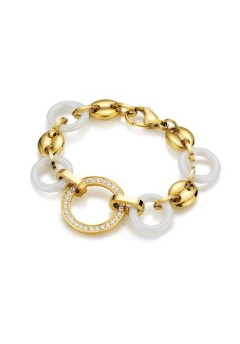 Jacques Charrel Armband »mit weißen Keramik-Ringen und weißen Zirkonia« kaufen