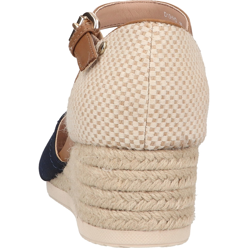 Geox Keilsandalette »Lederimitat/Textil«