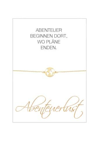 HERZ-KARTE Armband »Abenteuerlust«, Armband mit Welt-Einhänger, 925/- Sterlingsilber... kaufen