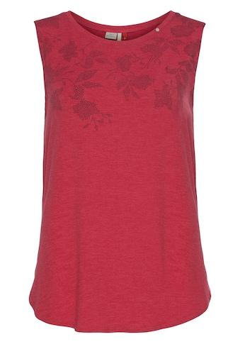 Ragwear Shirttop »VALENCIA«, mit natürlichem Blumen-Blatt-Druck kaufen