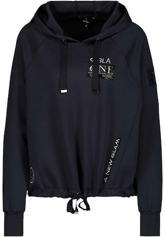 Monari Kapuzensweatshirt, mit Kapuze und Glitzer - Details kaufen