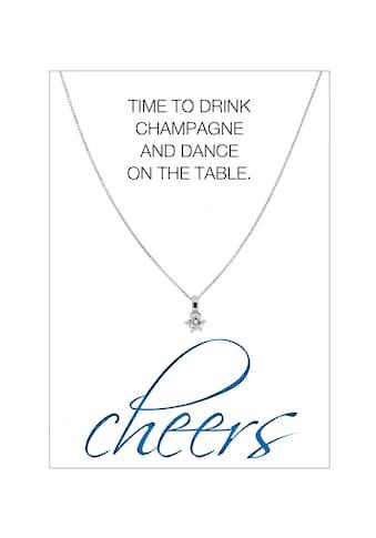 HERZ-KARTE Silberkette »cheers«, Ankerkette rhodiniert mit Solitär 925/- Sterlingsilber kaufen