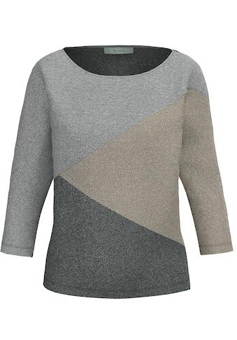 bianca 3/4-Arm-Shirt »JULIE«, mit All-Over Glitzereffekt kaufen