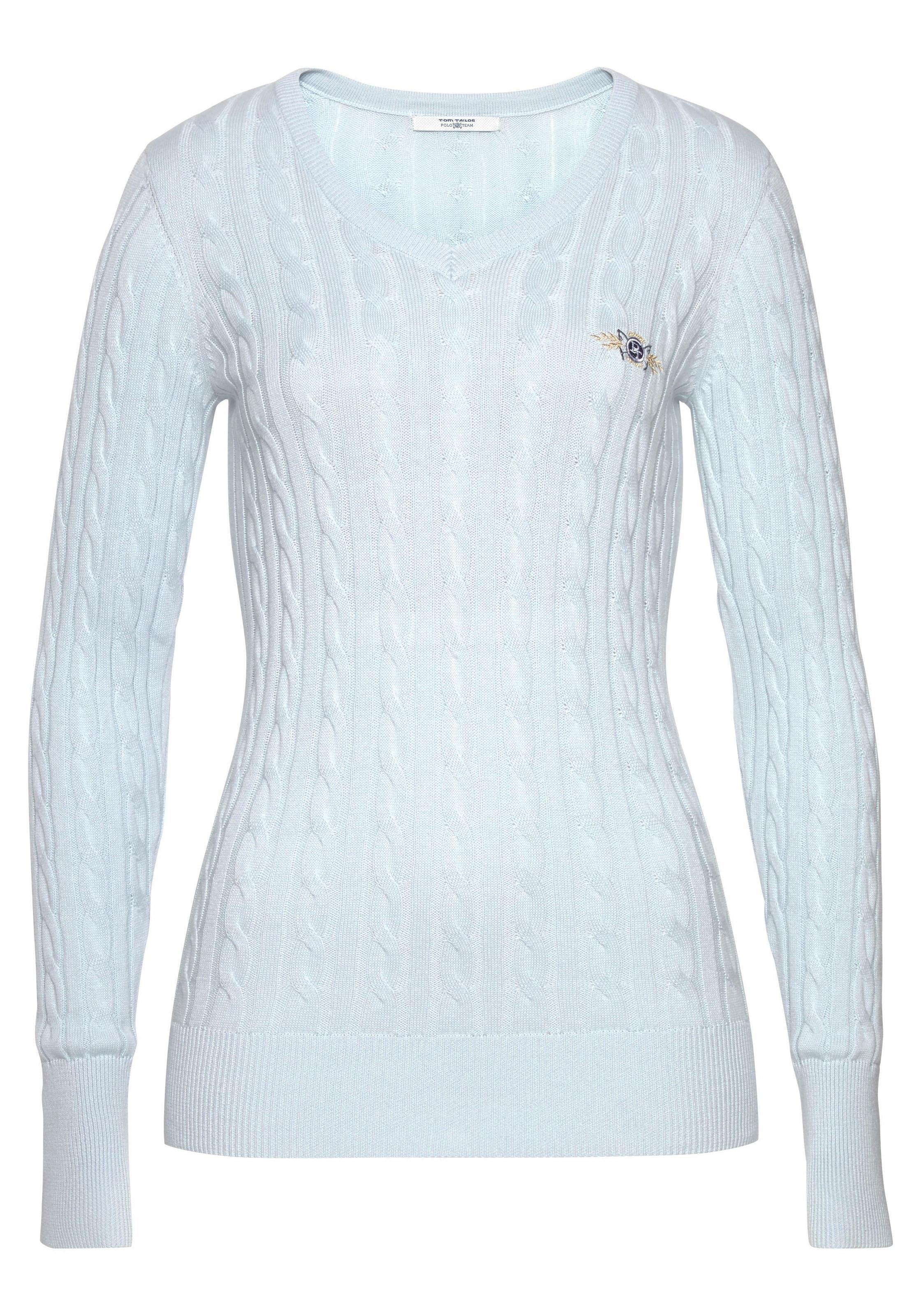 TOM TAILOR Damen Pullover /& Strickjacken Pullover mit V-Ausschnitt