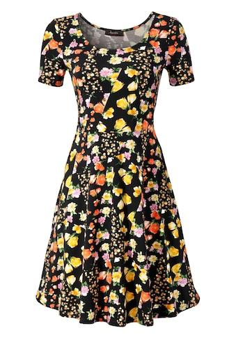 Aniston CASUAL Sommerkleid, mit attraktiven Alloverdruck oder in unifarben Schwarz kaufen