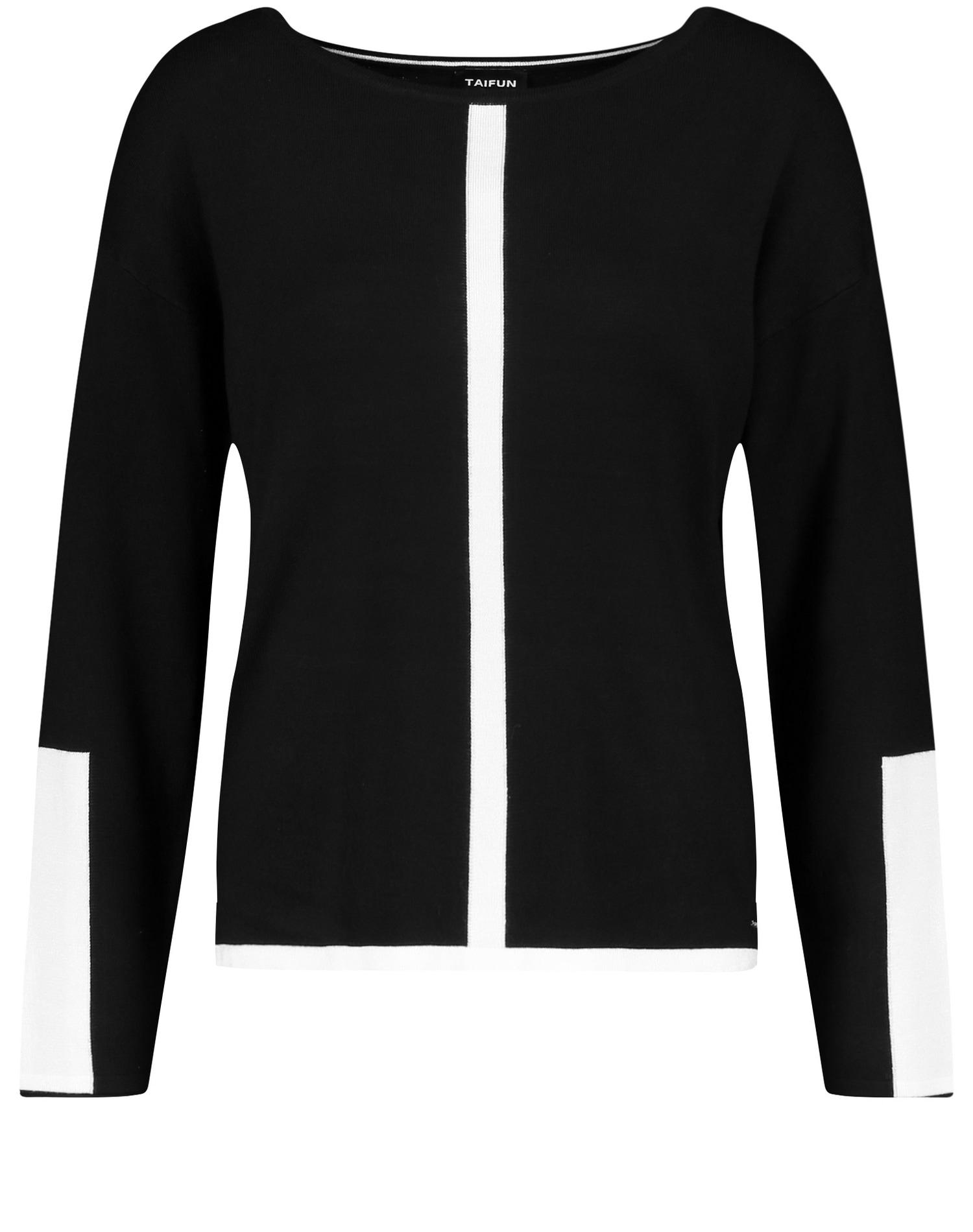 taifun -  Strickpullover Pullover mit Kontrast-Details