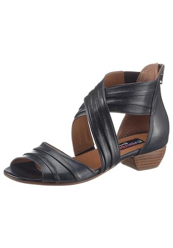 Everybody Sandalette »JENNIFER«, mit eleganten Raffungen kaufen