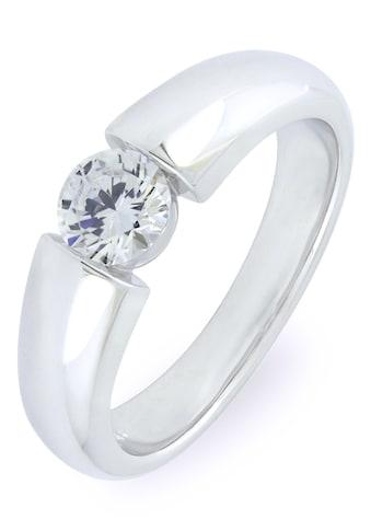 VILMAS Silberring »Solitär-Optik, Skyline, 4028146541825, 818, 801«, mit Zirkonia kaufen