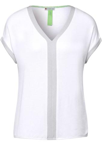 STREET ONE V-Shirt, mit farbigen Streifen kaufen