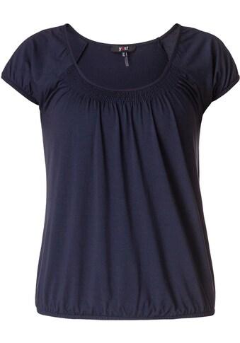 BSIC by Yest Blusenshirt »Yugi«, Figurumspielendes T-Shirt mit eingelegten Falten kaufen