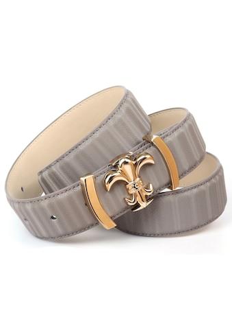 Anthoni Crown Ledergürtel, mit filigraner goldfarbener Koppel-Schließe kaufen