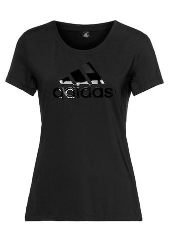 adidas Performance T - Shirt »GLAM ON BADGE OF SPORT LOGO« kaufen