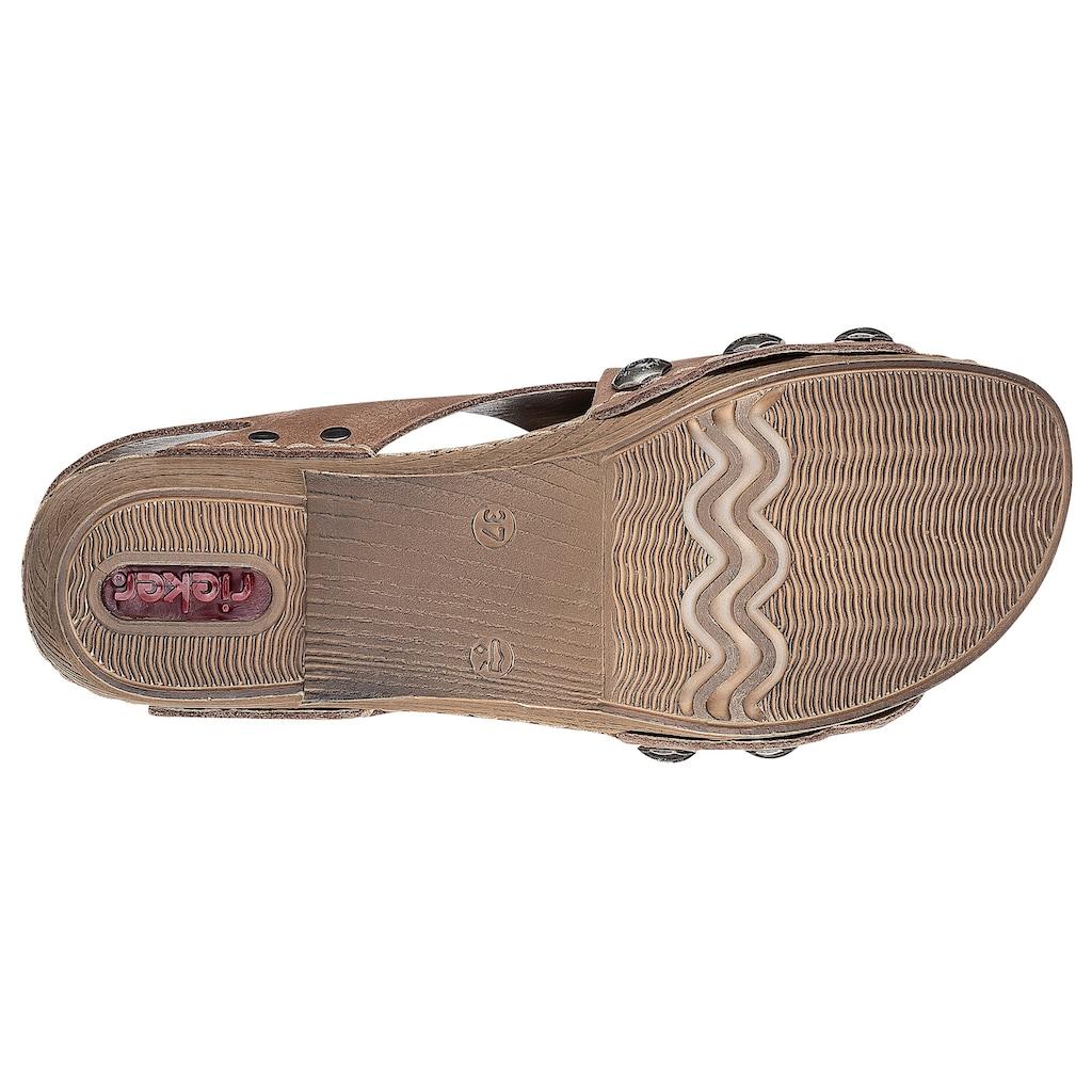 Rieker Sandalette, mit perforierter Bandage