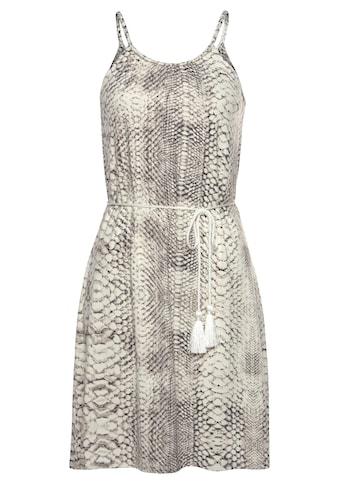 LASCANA Jerseykleid, (mit Bindegürtel), mit Schlangenprint kaufen