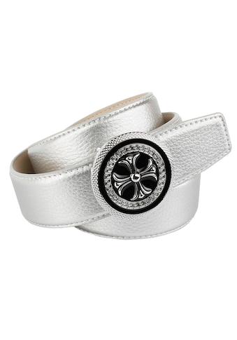 Anthoni Crown Ledergürtel, mit runder Schließe kaufen