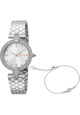 Just Cavalli Time Quarzuhr »Nobile, JC1L159M0045«, (Set, 2 tlg., 2teiliges Set - Uhr... kaufen