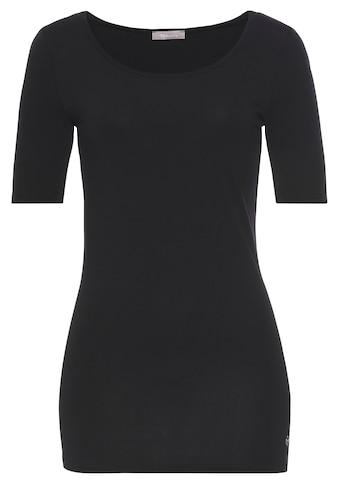 Tamaris T-Shirt, mit verlängertem Kurzarm - NEUE KOLLEKTION kaufen