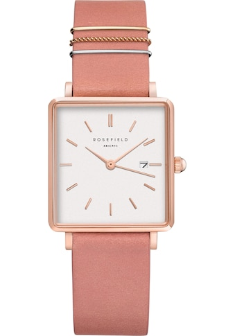 ROSEFIELD Quarzuhr »The Boxy White Old Pink Rosegold, QOPRG-Q026« kaufen