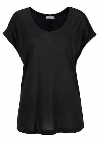 AJC Oversize-Shirt, mit Schulterdetail in Lederoptik kaufen