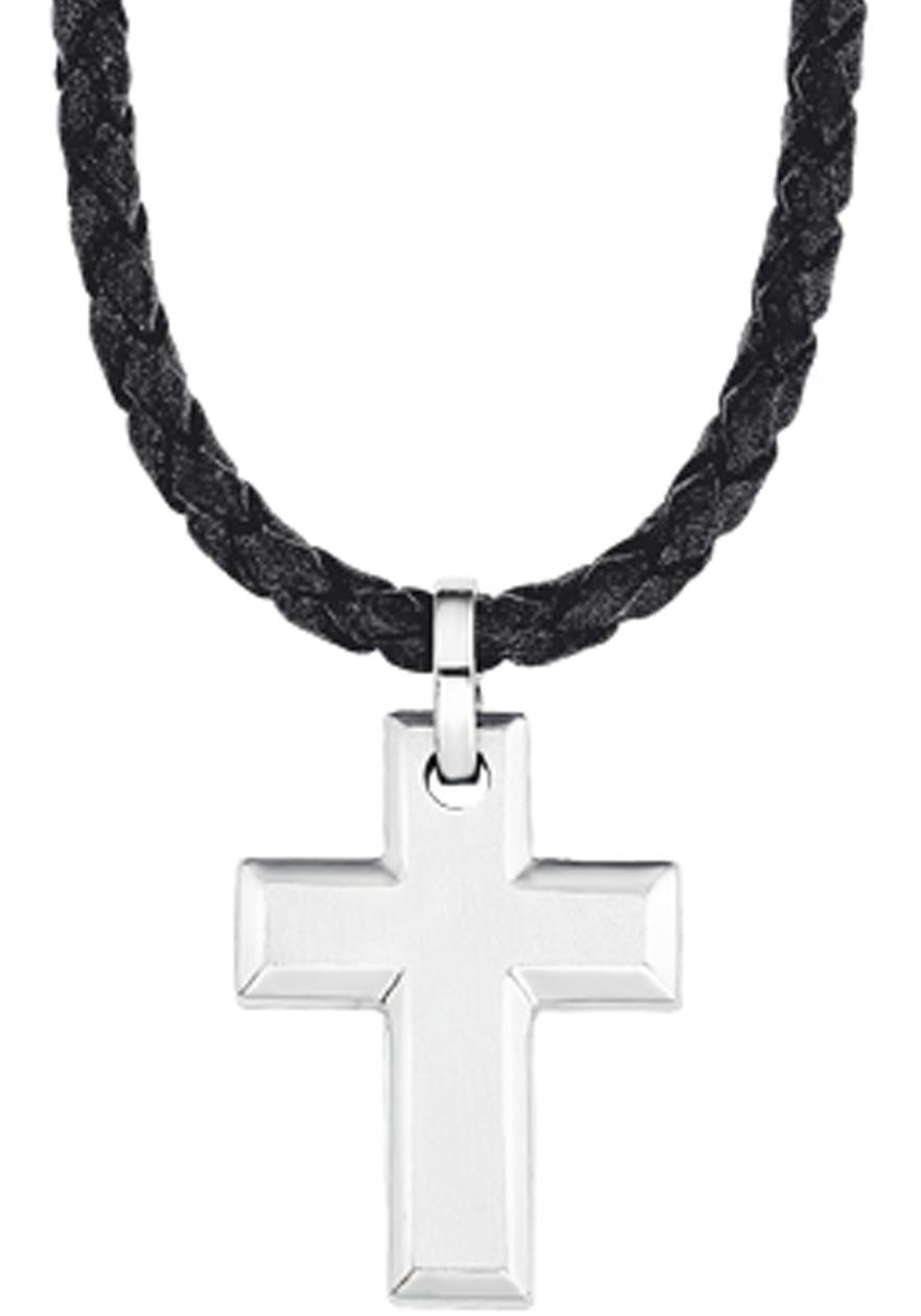 sOliver Kreuzkette 2015064 | Schmuck > Halsketten > Kreuzketten | Schwarz | S.Oliver