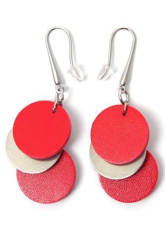 J.Jayz Paar Ohrhaken »Kreise, matt, rot, stylisch« kaufen