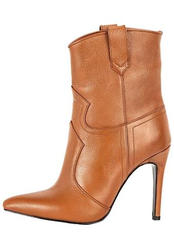 INUOVO High-Heel-Stiefelette »Leder« kaufen