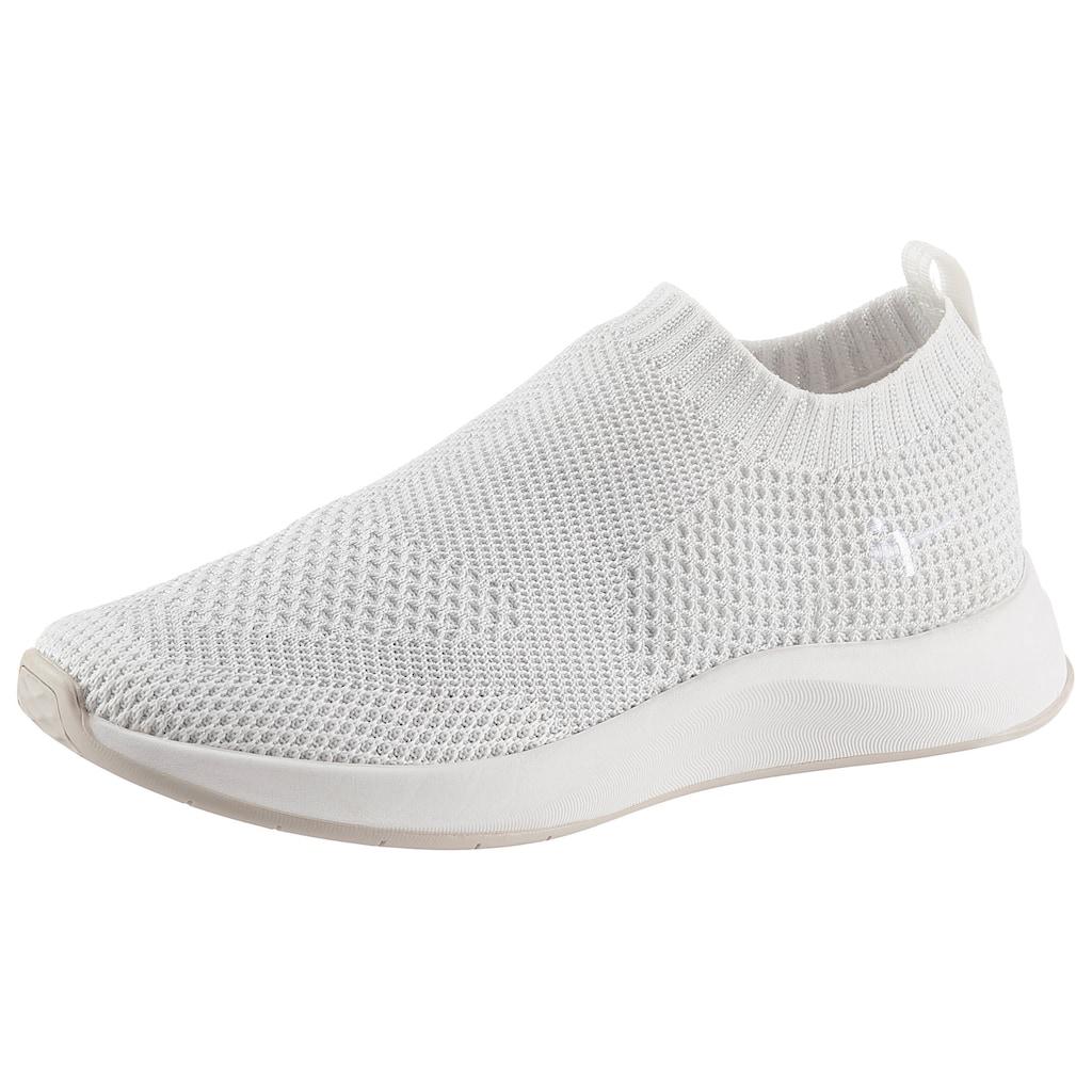 Tamaris Slip-On Sneaker »Fashletics«, mit feinem Metallic-Schimmer
