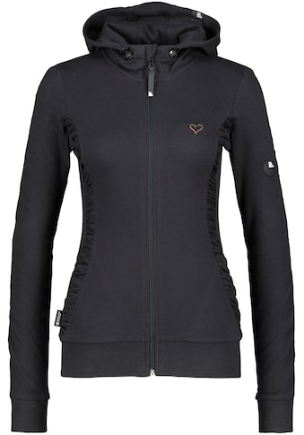 Alife & Kickin Sweatshirt »LuisaAK«, sportive Sweatjacke mit Kapuze& kleinen gerafften Details kaufen