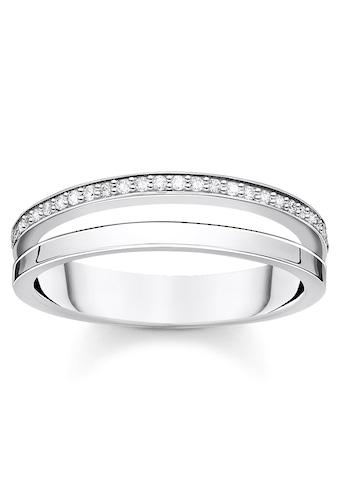 THOMAS SABO Silberring »weiße Steine, TR2316 - 051 - 14 - 48, 50, 52, 54, 56, 58, 60« kaufen
