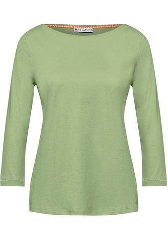 STREET ONE 3/4-Arm-Shirt, mit glitzernden Nähten kaufen