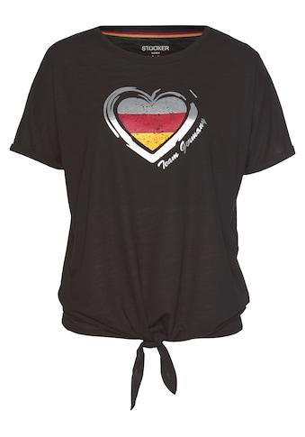 STOOKER WOMEN Rundhalsshirt, mit Tricolor-Herz-Print, Fanshirt EM 2021 kaufen