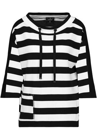 Monari Sweatshirt, silberfarbenen Ringösen und Bindeband kaufen