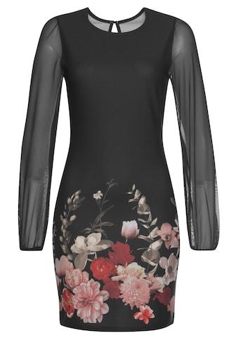 Melrose Jerseykleid, mit bedruckten Ärmeln aus Mesh - NEUE KOLLEKTION kaufen