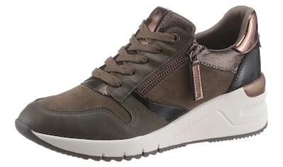 Tamaris Wedgesneaker »REA«, mit praktischem Außenreißverschluss kaufen