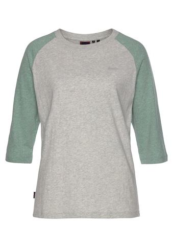 Superdry 3/4-Arm-Shirt, im Vintage-Stil mit 3/4-Ärmeln aus Bio-Baumwolle kaufen
