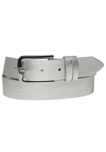 AnnaMatoni Ledergürtel, mit Metallicoberfläche kaufen