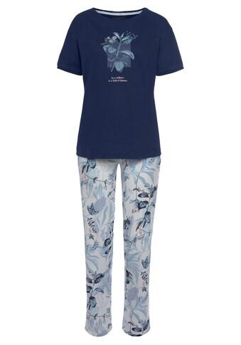 Triumph Pyjama, mit Blätterdruck kaufen