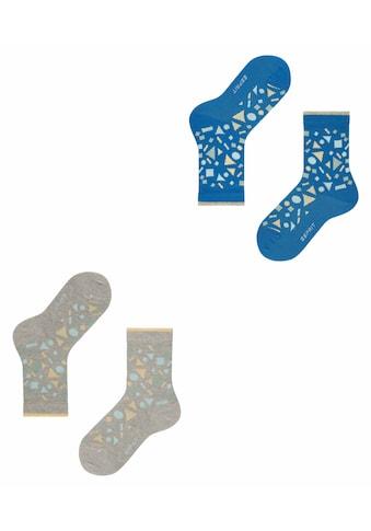 Esprit Sneakersocken »Pattern Mix 2-Pack«, (2 Paar), aus Biobaumwolle kaufen