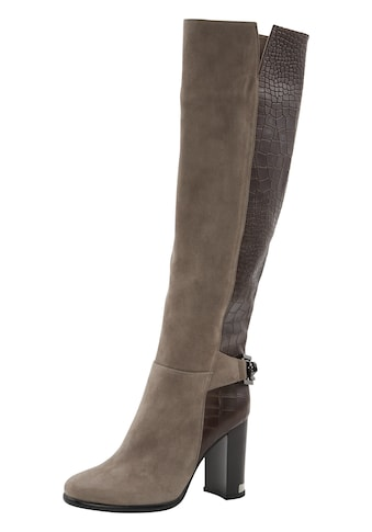 Stiefel mit Kroko - Prägung kaufen