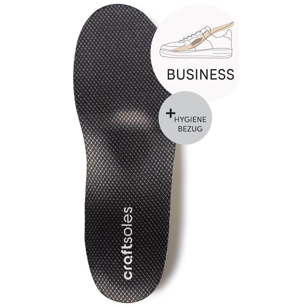 craftsoles orthopädische Schuheinlagen »Businessschuhe - ANTIBAKTERIELL«, Maßanfertigung