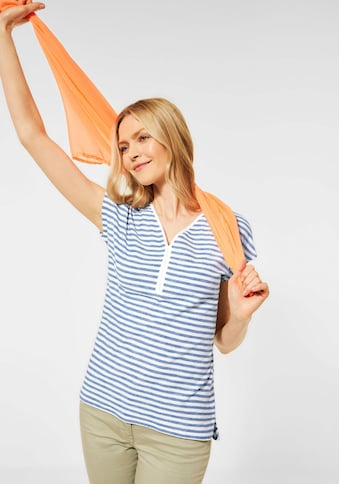 Cecil V-Shirt, mit schmalem Streifenmuster kaufen