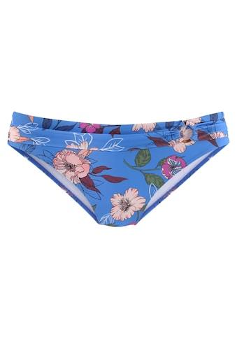 s.Oliver Bikini-Hose »Maya«, mit floralem Design und Umschlagbund kaufen
