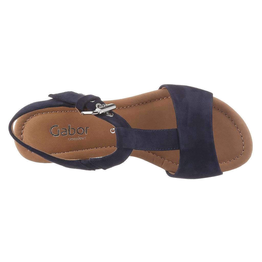Gabor Sandalette, mit raffiniertem Keilabsatz