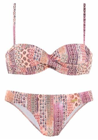LASCANA Bügel-Bandeau-Bikini, in Patchwork-Optik kaufen