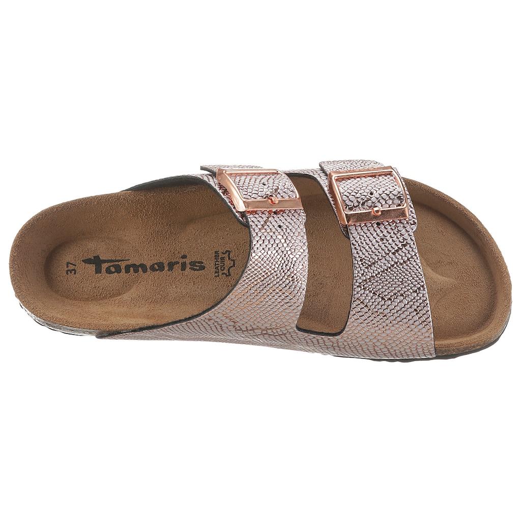 Tamaris Pantolette »CORRA«, im schönen Metallic-Look