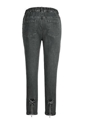MIAMODA Jeansjeggings, mit schönen Schleifen am Beinabschluss kaufen