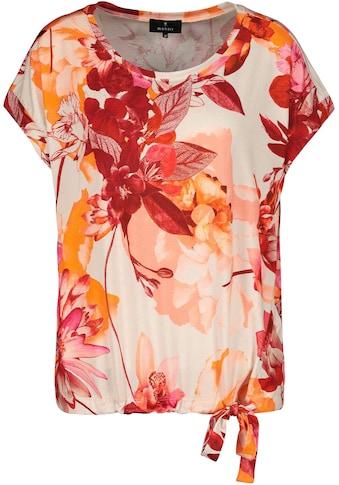 Monari Kurzarmshirt, mit floralem Blumen - Print kaufen