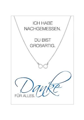 HERZ-KARTE Silberkette »Danke FÜR ALLES«, Ankerkette rhodiniert mit Infinity 925/-... kaufen